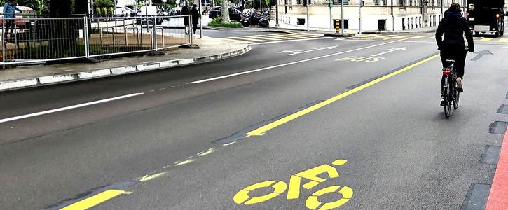 Oui aux nouvelles bandes cyclables à Genève!