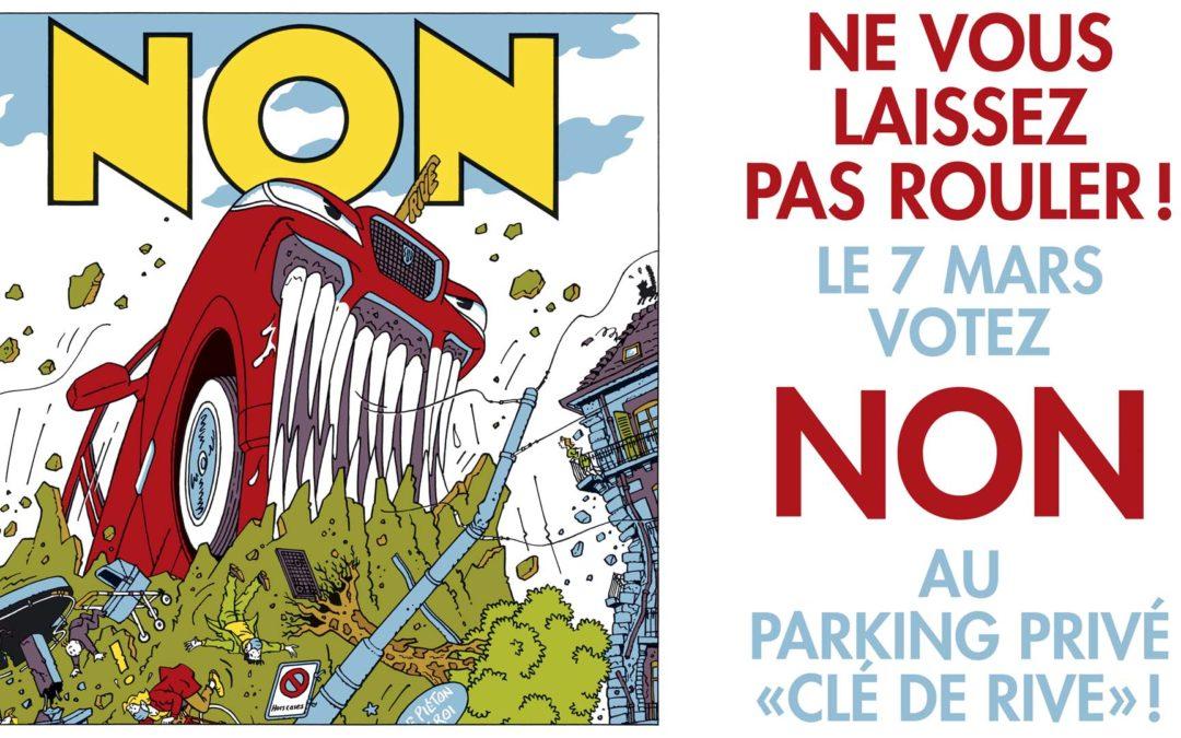Parking clé-de-rive: non merci