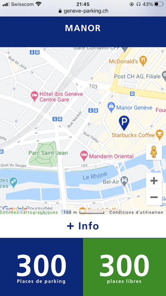 Geneve parking app