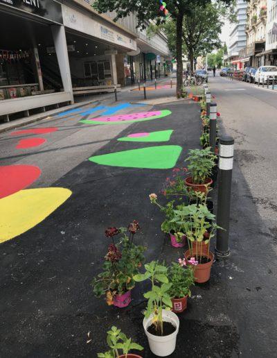 Fresque urbaine rue du Cendrier