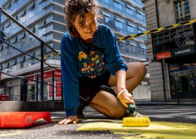 Concentration fresque urbaine