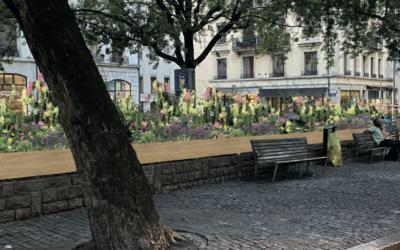 Des jardins à la place de Grenus